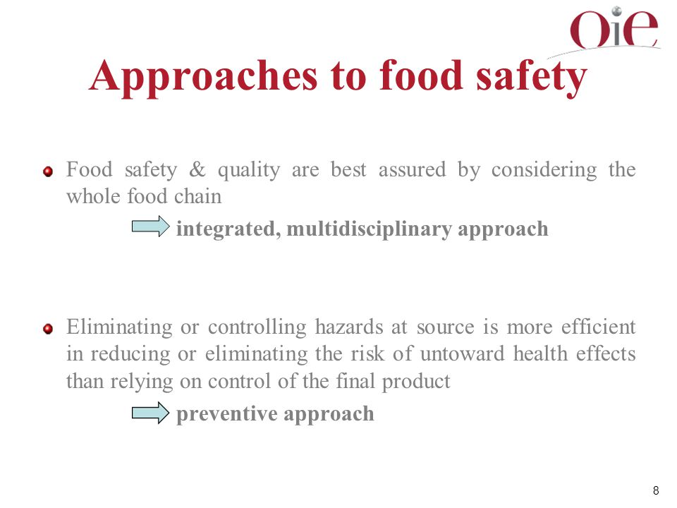Approaches to food safety