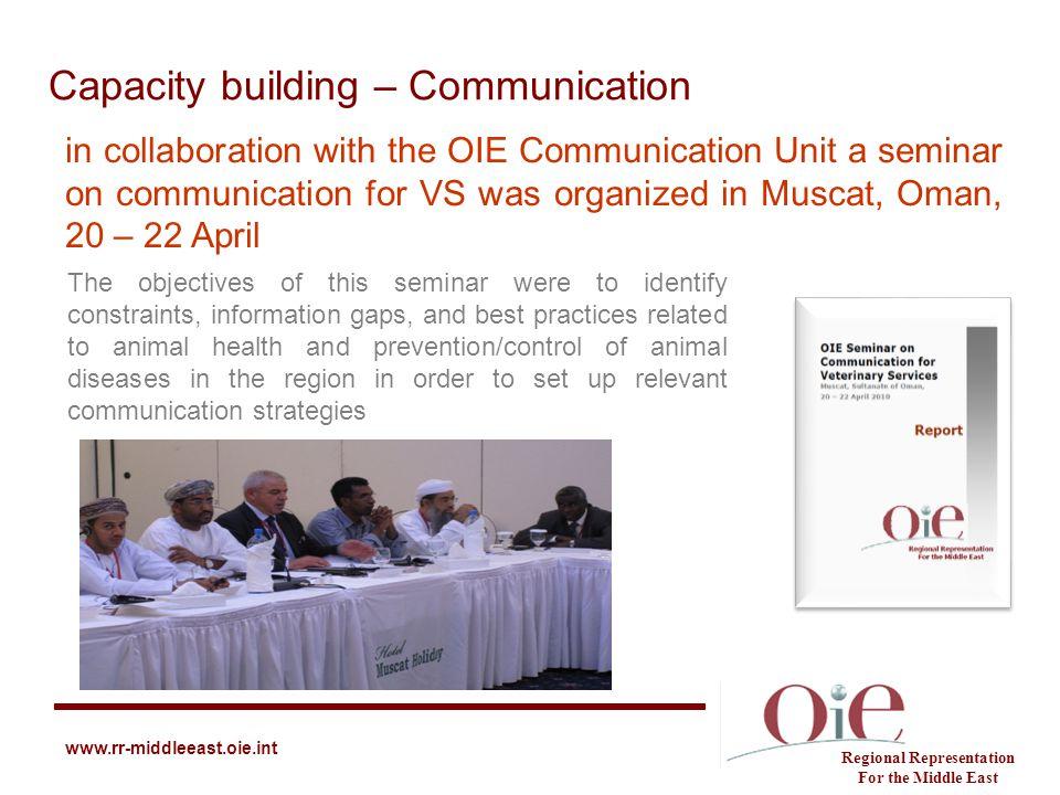 Capacity building – Communication