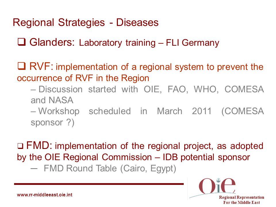 Regional Strategies - Diseases