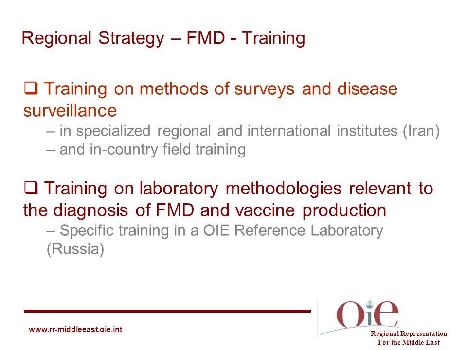 Regional Strategy – FMD - Training