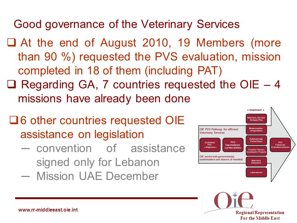 Good governance of the Veterinary Services