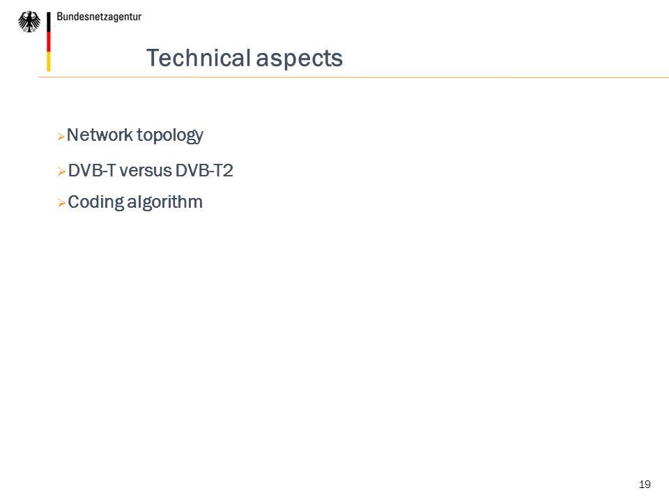 Technical aspects DVB-T versus DVB-T2 Coding algorithm