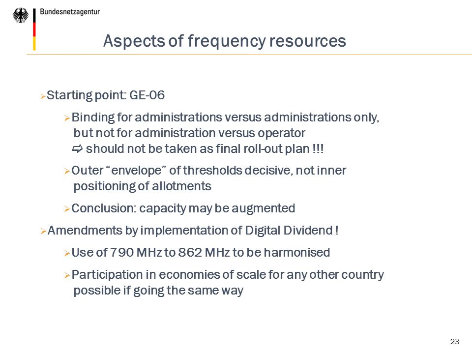 Aspects of frequency resources