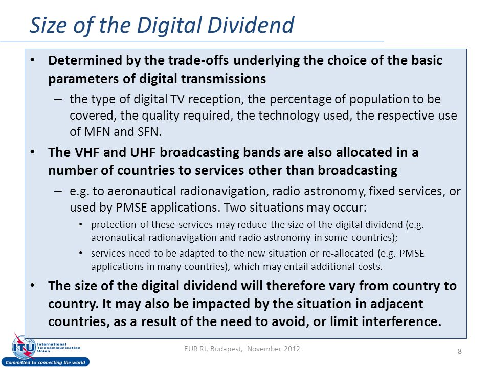 Size of the Digital Dividend