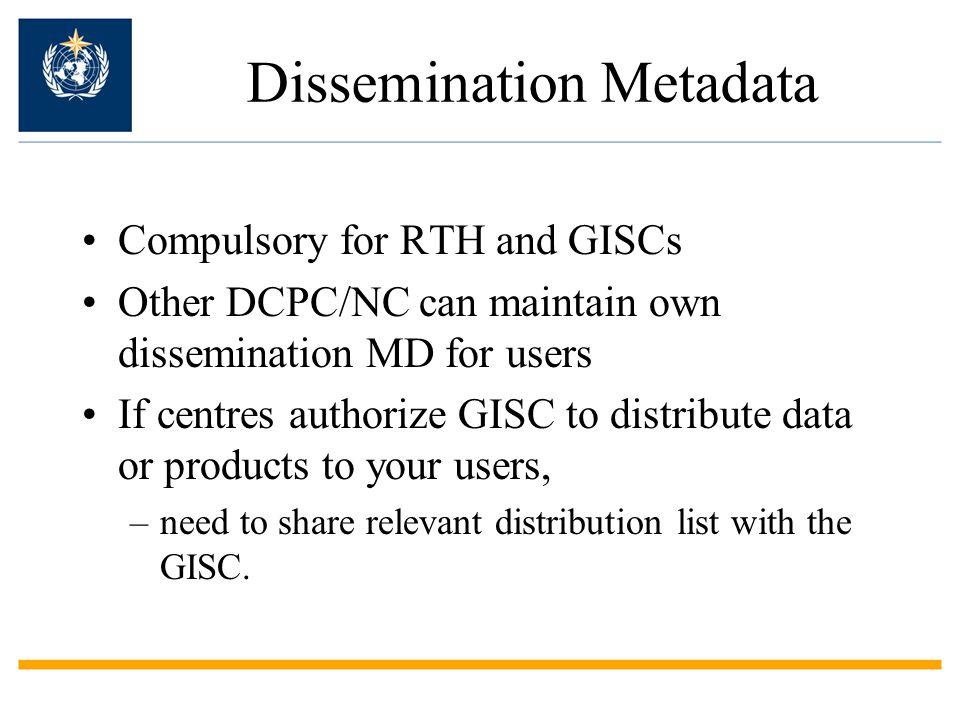 Dissemination Metadata