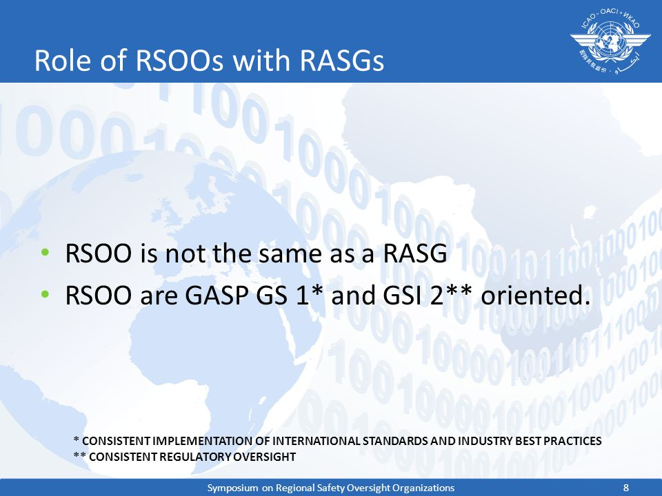 Role of RSOOs with RASGs