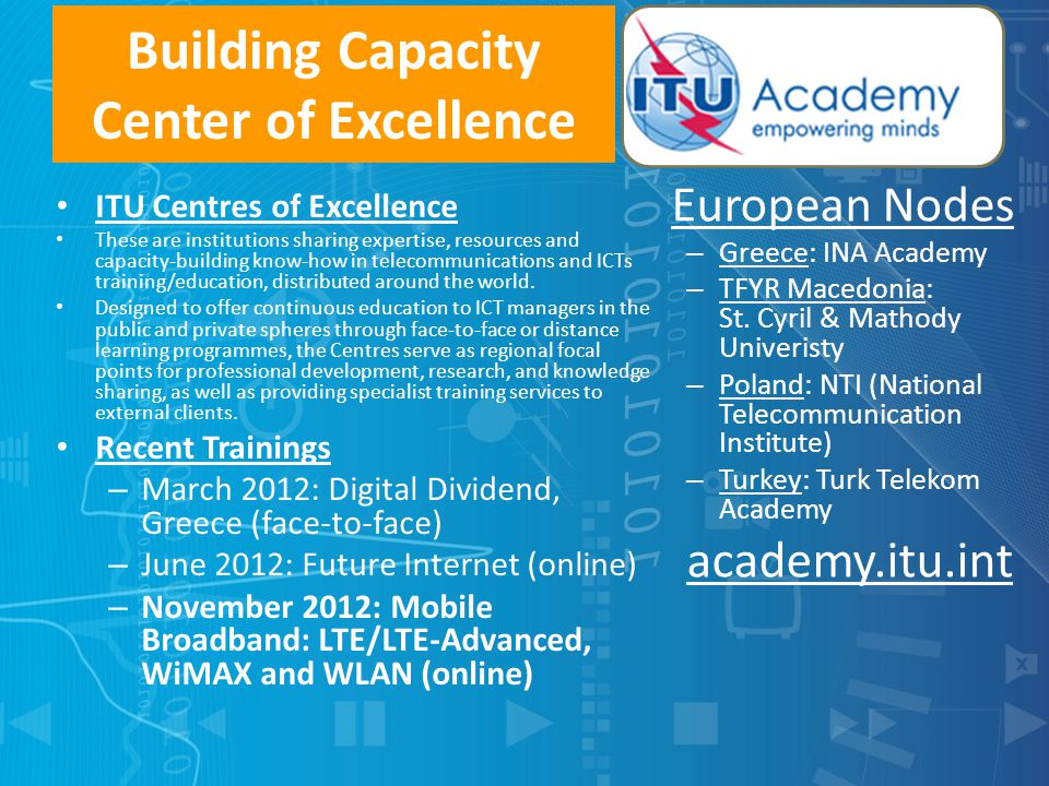 Building Capacity Center of Excellence