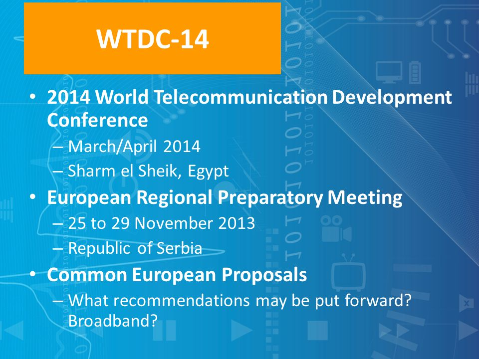 WTDC-14 2014 World Telecommunication Development Conference