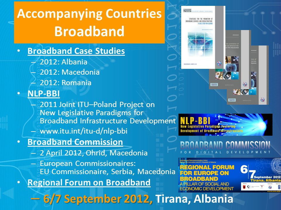 Accompanying Countries Broadband