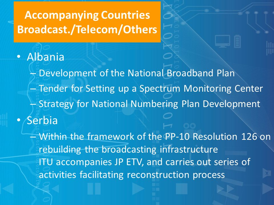 Accompanying Countries Broadcast./Telecom/Others