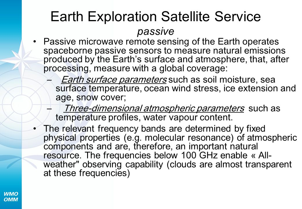 Earth Exploration Satellite Service passive