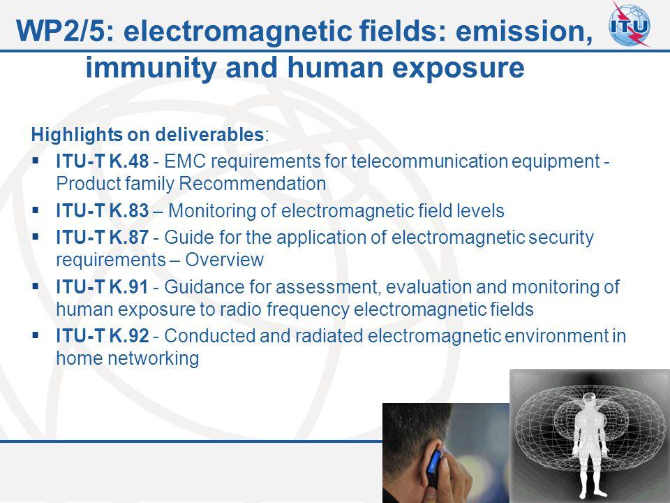 WP2/5: electromagnetic fields: emission, immunity and human exposure