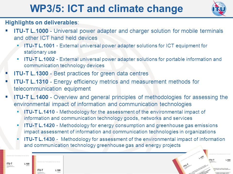 WP3/5: ICT and climate change