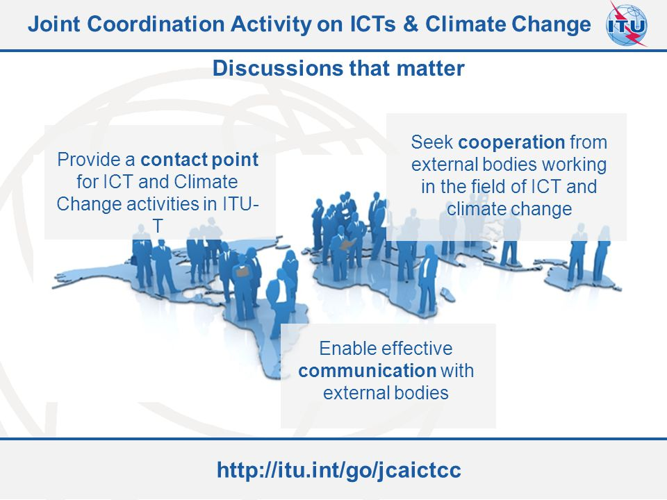 Joint Coordination Activity on ICTs & Climate Change