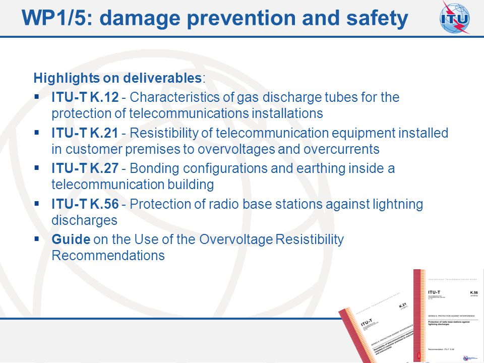 WP1/5: damage prevention and safety
