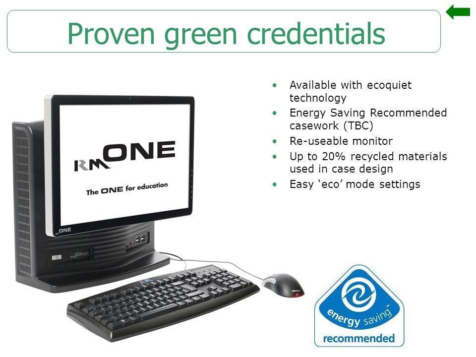 Proven green credentials
