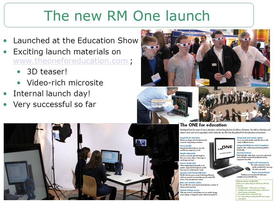 The new RM One launch Launched at the Education Show