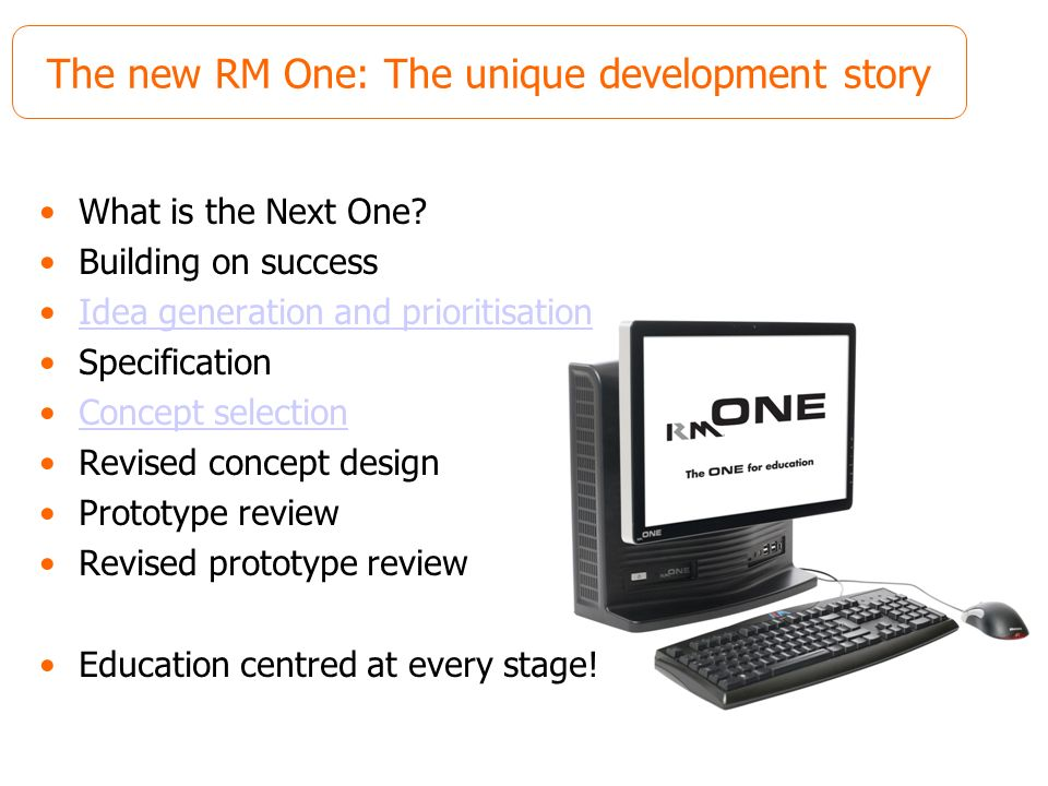 The new RM One: The unique development story