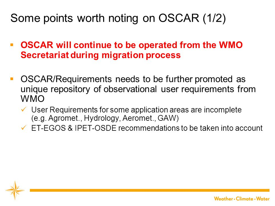 Some points worth noting on OSCAR (1/2)