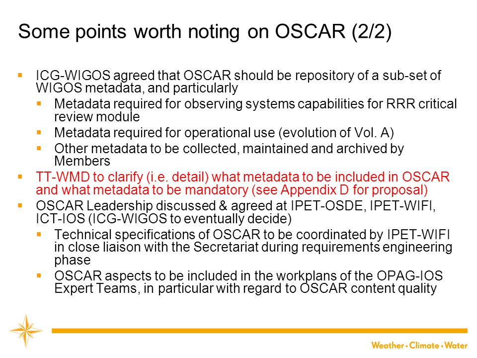Some points worth noting on OSCAR (2/2)