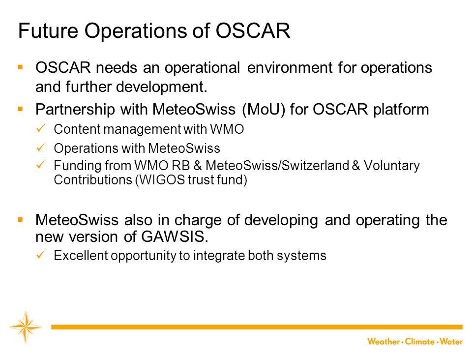Future Operations of OSCAR