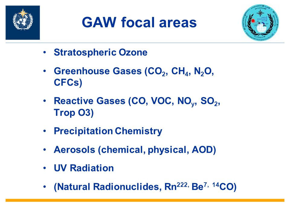 GAW focal areas Stratospheric Ozone