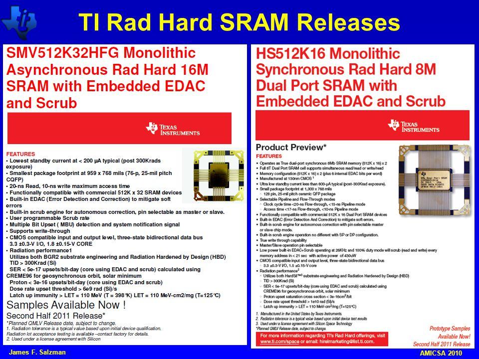 TI Rad Hard SRAM Releases