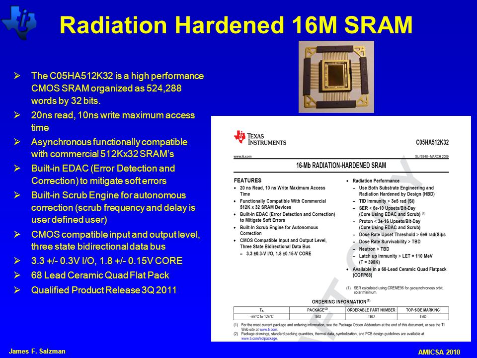 Radiation Hardened 16M SRAM