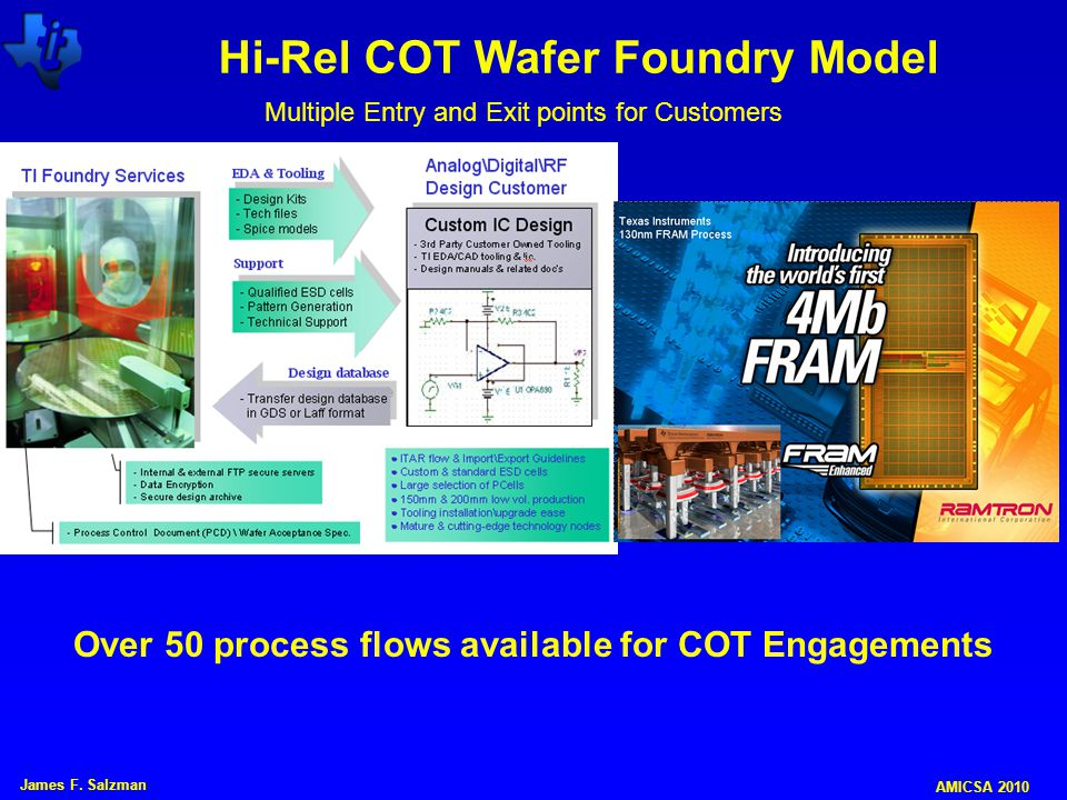 Hi-Rel COT Wafer Foundry Model