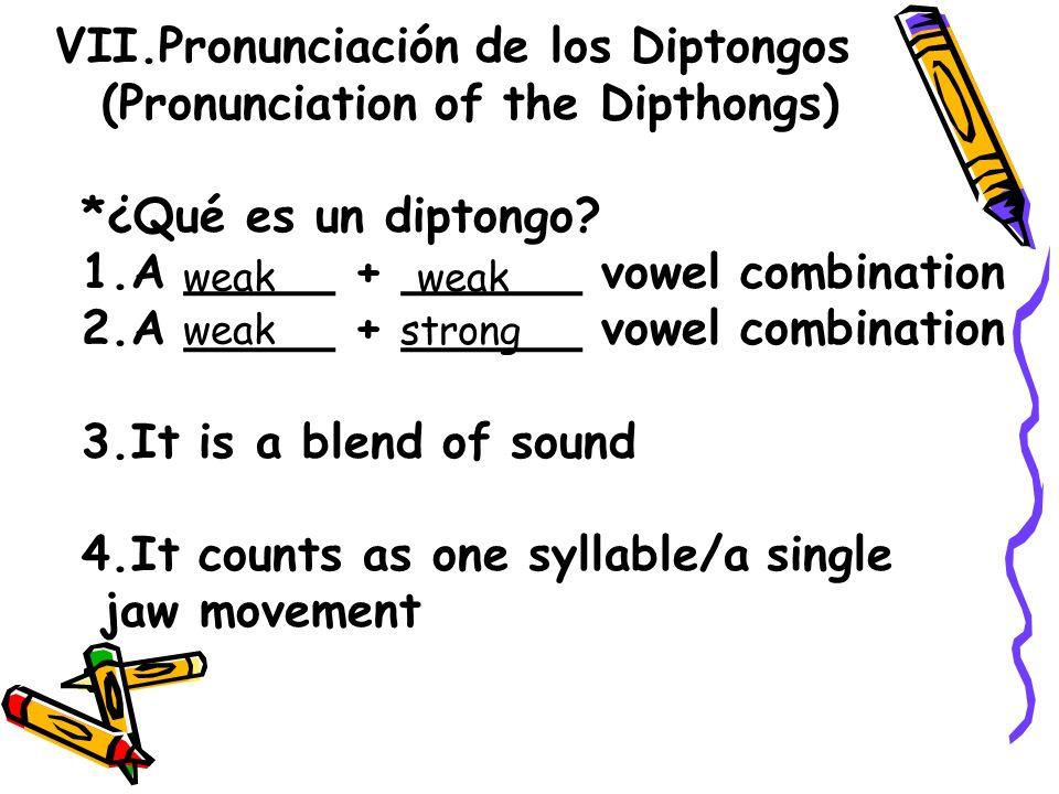 Pronunciación de los Diptongos (Pronunciation of the Dipthongs)