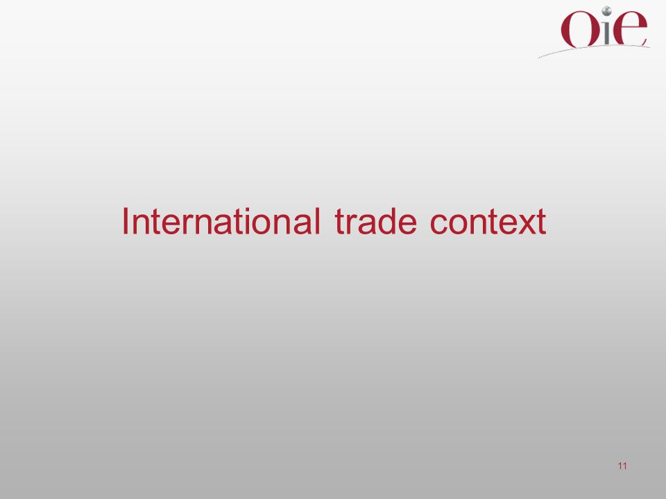 International trade context