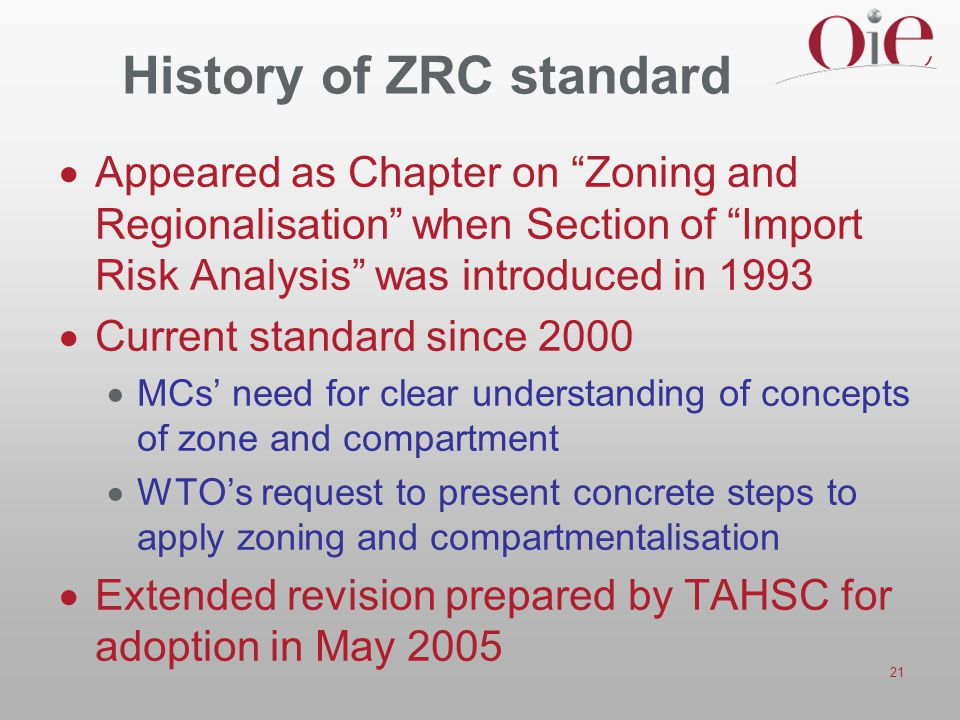 History of ZRC standard