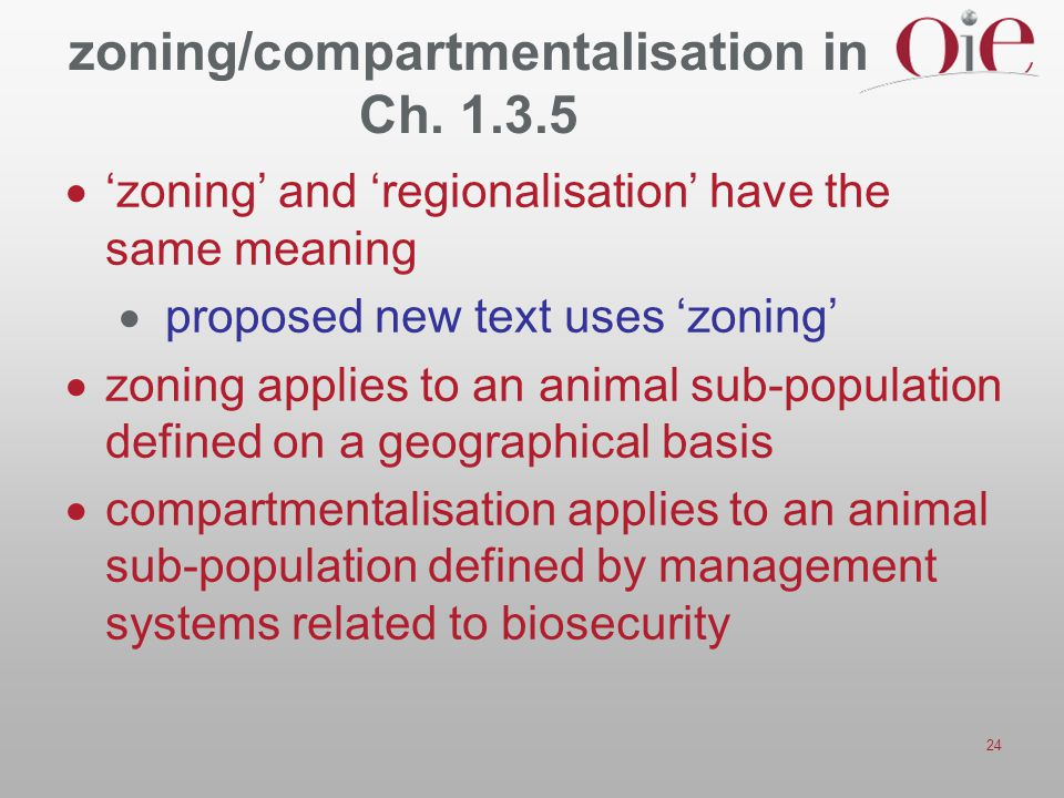zoning/compartmentalisation in Ch. 1.3.5