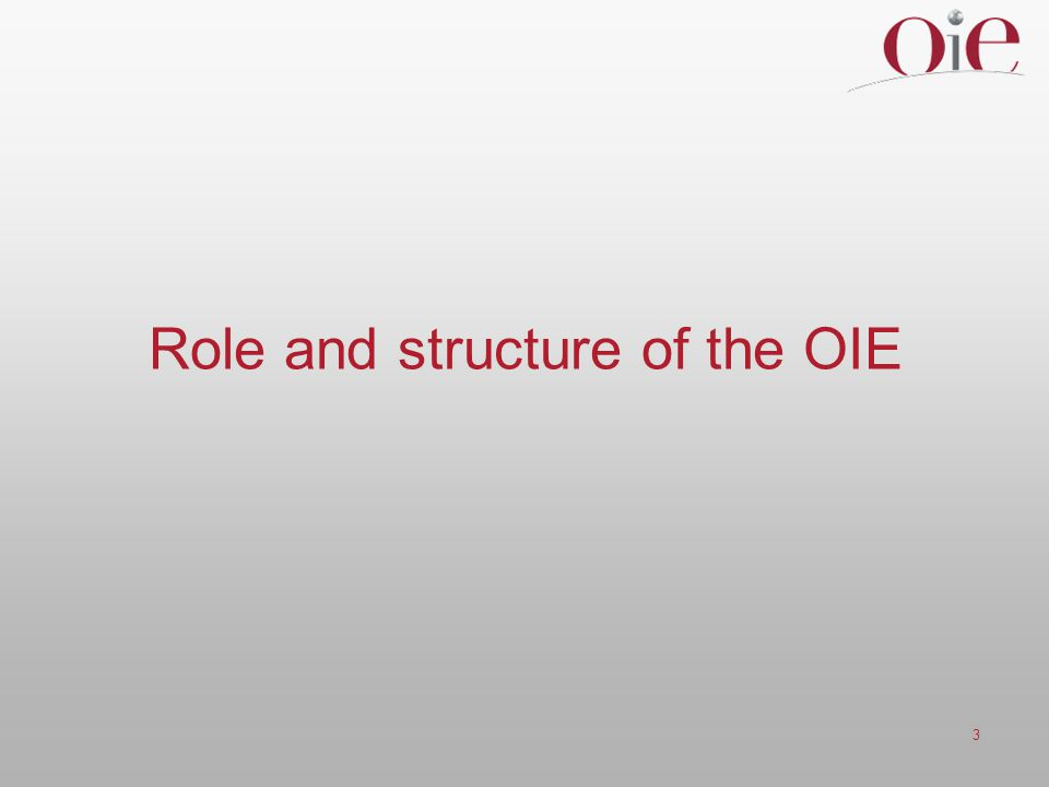 Role and structure of the OIE