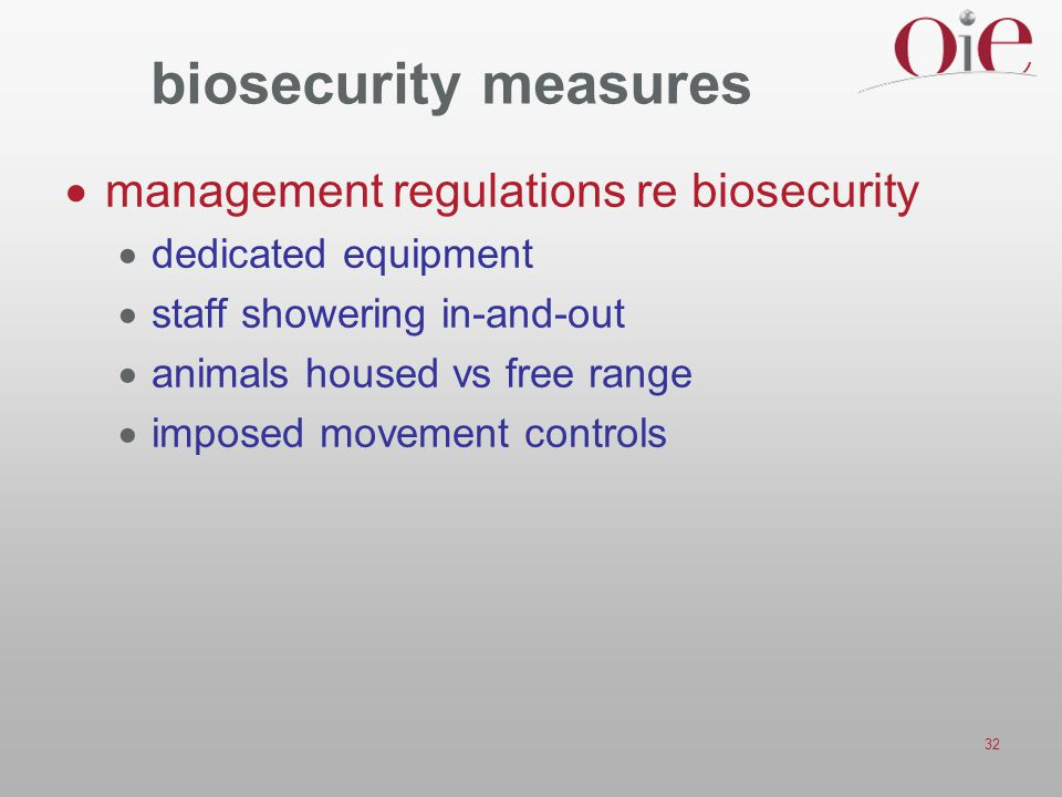 biosecurity measures management regulations re biosecurity