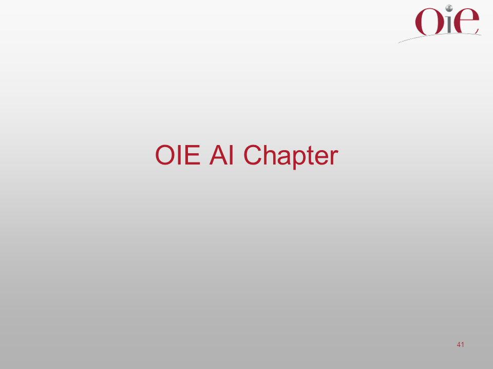 OIE AI Chapter