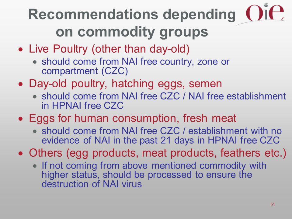 Recommendations depending on commodity groups
