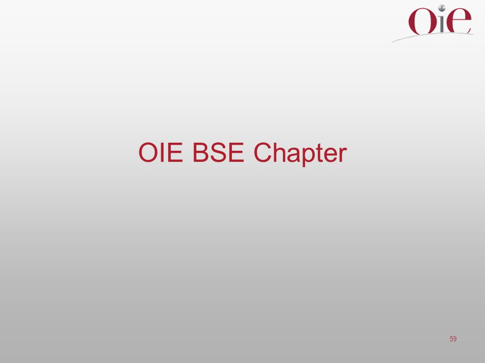 OIE BSE Chapter