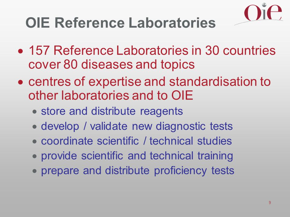 OIE Reference Laboratories