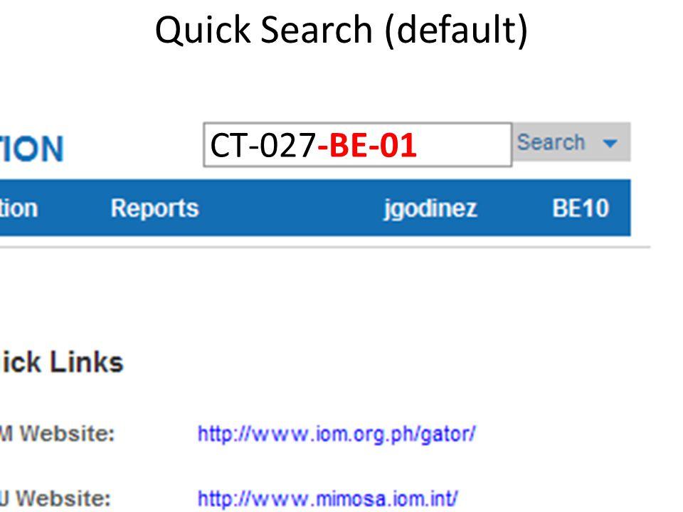 Quick Search (default)