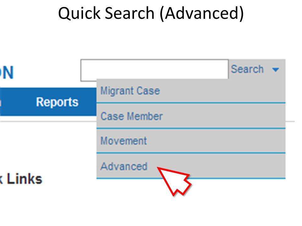 Quick Search (Advanced)
