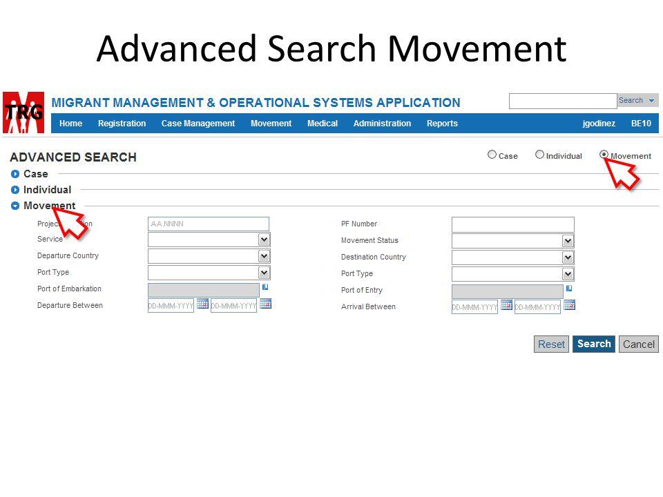 Advanced Search Movement