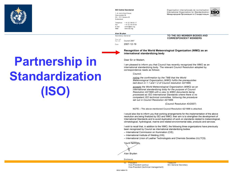 Partnership in Standardization (ISO)