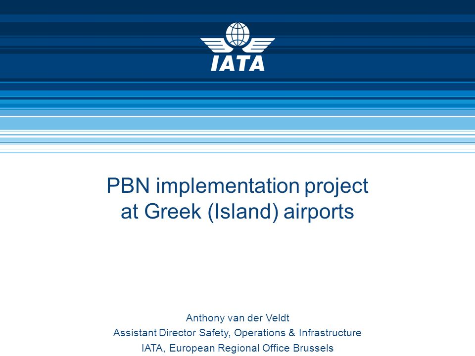 PBN implementation project at Greek (Island) airports