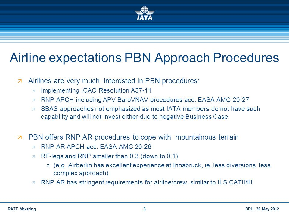 Airline expectations PBN Approach Procedures