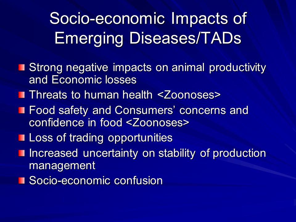 Socio-economic Impacts of Emerging Diseases/TADs