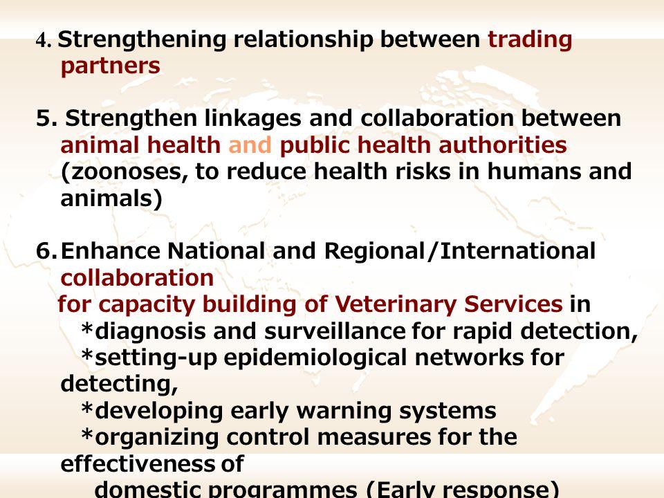 4. Strengthening relationship between trading partners
