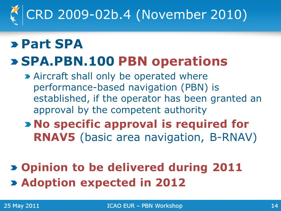 CRD 2009-02b.4 (November 2010) Part SPA SPA.PBN.100 PBN operations