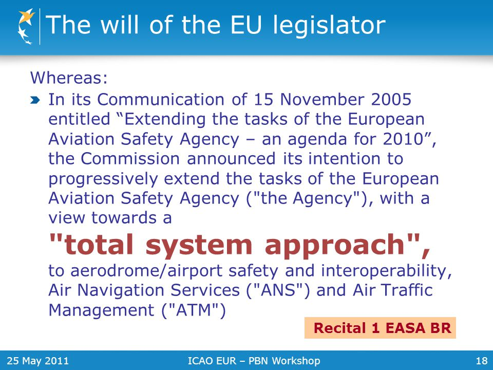 The will of the EU legislator
