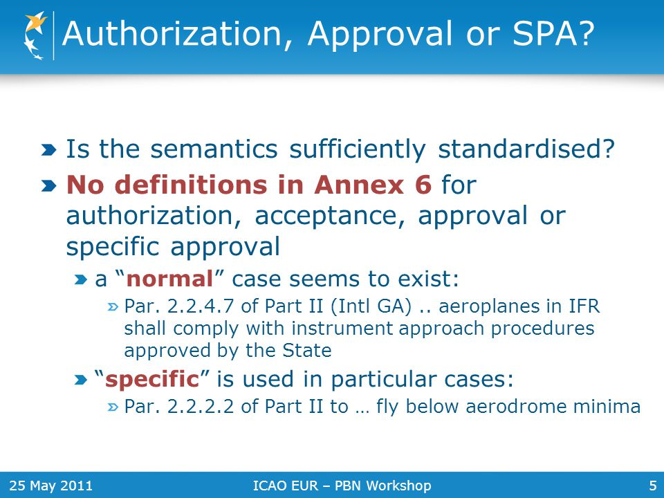 Authorization, Approval or SPA